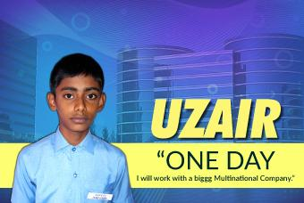 Uzair dreams for a place in an MNC as a Software Engineer