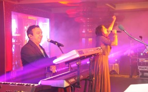 Celebrated musician duo, Mr. Ram Sampath and Miss Sona Mahapatra performing the theme song for the initiative